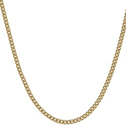 Sterling Essentials 14KGold over Silver 18-inch Curb Chain Necklace