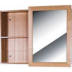 Glamour Wood Light Maple Vanity Mirror