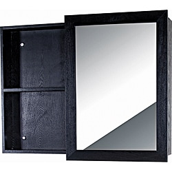 Glamour Wood Black Vanity Mirror