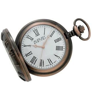 August Steiner Men's Walking Liberty Half-dollar Antique Copper Pocket Watch