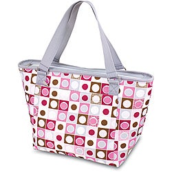 Picnic Time Topanga Pink Geo Large Insulated Shoulder Tote (Set of 2)