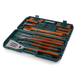 18-piece Wooden Handle BBQ Tool Set