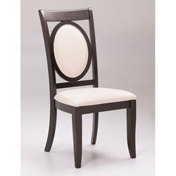 Paris Espresso Leather Dining Chairs (Set of 2)