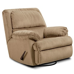 Simmons Deluxe Mink Glider Swivel Rocker Recliner