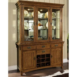Somerton Craftsman Hutch with Buffet