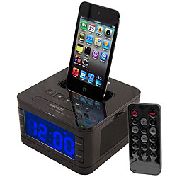 Pyle PICL52B Black iPod Radio Alarm Clock