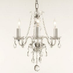 Venetian Style All-crystal 3-light Chandelier