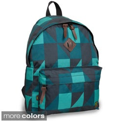 J World 'Kelley' Green Block 16-inch Mini Backpack