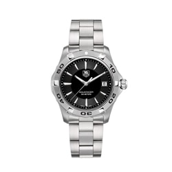 Tag Heuer Men's Aquaracer Stainless Steel Black Dial Watch