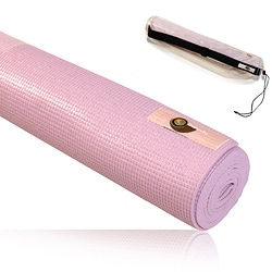 CAP Barbell Definity Pink Foam/Fabric Nonslip Yoga Exercise Mat