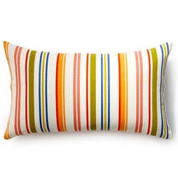 Jiti Rainbow Thin Stripes Outdoor Throw Pillow