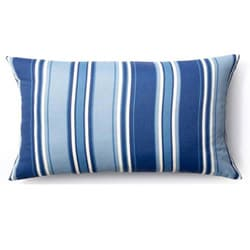 Blue Thick Stripes Outdoor Throw Pillow