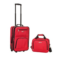 Rockland Expandable Red 2-piece Lightweight Carry-on Luggage Set