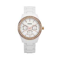 Fossil Women's Stella Stainless Steel White Dial Watch