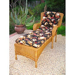 San Tropez Resin Wicker 3-piece Chaise Lounge Set with Side Table