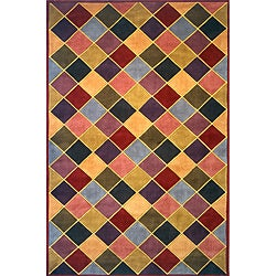 Hand-tufted New Wave Diamonds Rug (8' x 11')