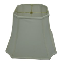 Square Cut-corner White Silk Lamp Shade