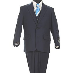 Ferrecci Boy's Navy 2-button 3-piece Vested Suit