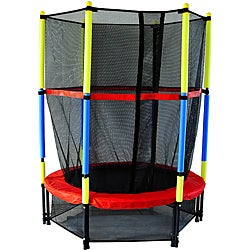 Kids Trampoline And Enclosure 13698715 Overstock Com