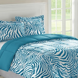 Home Essence Reversible Zebra Full/ Queen-size 3-piece Down Alternative Comforter and Sham Set