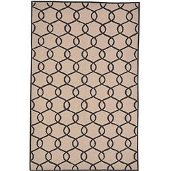Hand-woven Pink Rug (5' x 7'6)