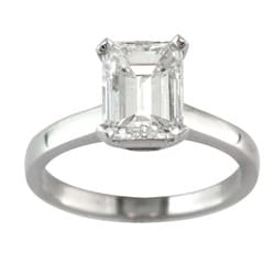 14k White Gold 2ct TDW Certified Clarity-enhanced Diamond Solitaire Engagement Ring (H, SI1)