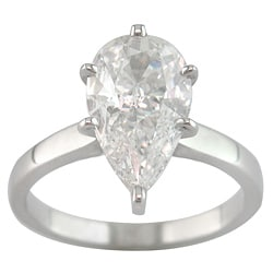 14k White Gold 2 3/4ct TDW Certified Clarity-enhanced Diamond Solitaire Engagement Ring (I, VS2)