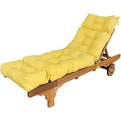 Outdoor Suncrest Yellow Chaise Lounge Cushion