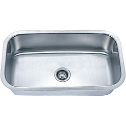 Somette Undermount Stainless Steel Single Bowl Sink