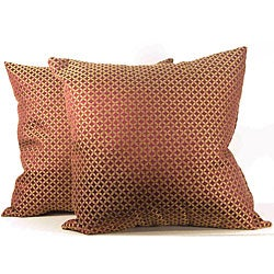 Prelude Diamond Rhubarb Throw Pillows (Set of 2)