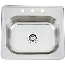 Topmount Stainless Steel Single Bowl Sink