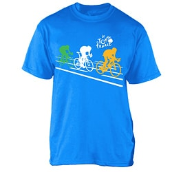 Le Tour de France Boy's 'Poster' Blue Cotton Official T-Shirt