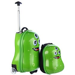 Trendykid Travel Buddies Alien 2-pc Hardside Kid&#39;s Carry On Luggage Set