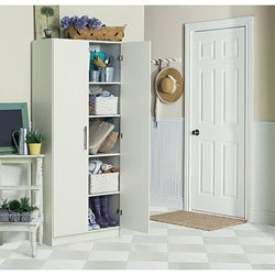 Akadahome Multipurpose 72-inch Antique White Storage Cabinet