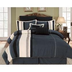 Aberdeen Grey 8-piece Queen-size Comforter Set