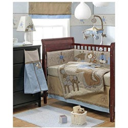 BananaFish Mosaic Jungle 4-piece Crib Bedding Set