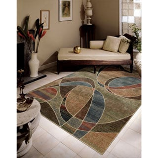 Nourison Expressions Multicolor Ribbons Rug (3'6 x 5'6)