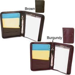 Leather Zip Legal Padfolio Binder
