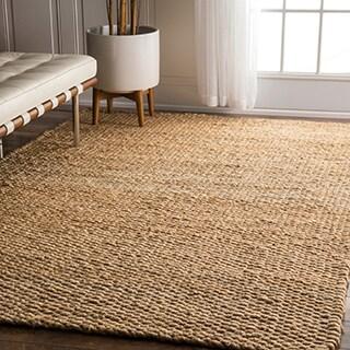 nuLOOM Handmade Natural Jute Rug (8' x 10')