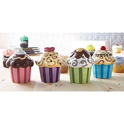 American Atelier Confections Cupcake Dishes w/ Covers (Set of 4)