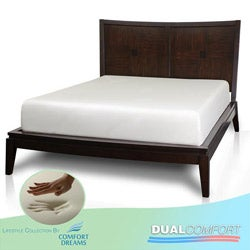 Comfort Dreams Dual Comfort 14-inch Queen-size Memory Foam Mattress