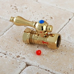 Polished Brass Lever Handle Angle Stop