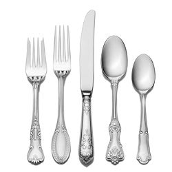 Wallace Hotel Lux 77-piece 18/10 Stainless Steel Flatware Set ...