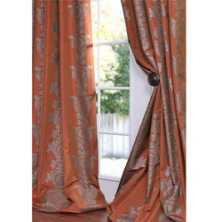 Ralston Printed Rust Faux Silk 84-inch Curtain Panel