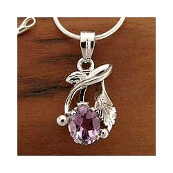 Sterling Silver 'Sweet Lilac' Amethyst Necklace (India)