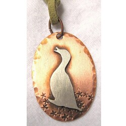 My Three Metals Copper Quacking Duck Necklace