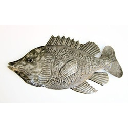 Recycled Steel Drum Fish Wall Art (Haiti)