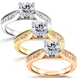 14k White Gold 1 1/6ct TDW Diamond Engagement Ring (H-I, I1-I2)