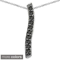 Malaika Sterling Silver 1/3ct TDW Diamond Necklace