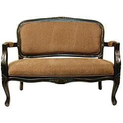 Utopia Tan Stripe Accent Settee